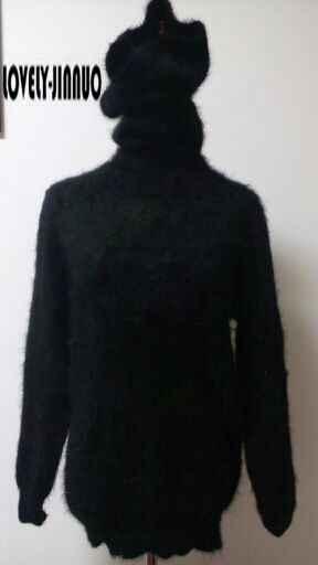 Новинка, водолазка, натуральный норковый кашемировый свитер, женский длинный кашемировый пуловер, вязаный воротник из чистой норки, бесплатная доставка JN330