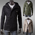 Casual Jacket Men Military Style Slim Hooded Bomber Coats Fashion 2016 Army Jacket Windbreaker Army Green JK41