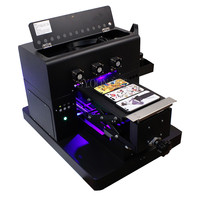 A4 Semi Auto UV Flatbed Printer for Phone Cover Phone Case glass metal leather stone 3D emboss Printing