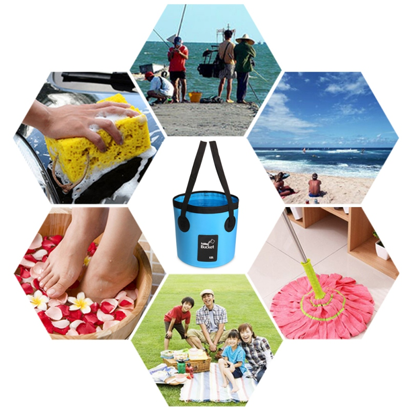 Multifunctional Collapsible Folding Fishing Bucket Outdoor Car Wash Bucket Water Storage Container Bucket For Camping Traveling