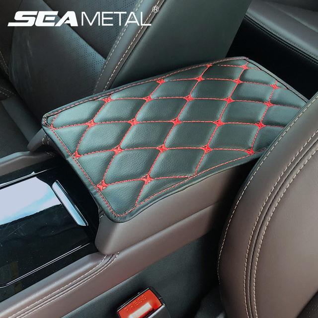 Car Armrest Mat Auto Interior Armrests Storage Box Mats Leather Storage Box Carpet Protector Auto Armrest For Car Accessories