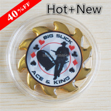 Poker Card With Big Slick ACE& King, Metal Commemorative Casino Coin,10pcs/lot Free shipping ace lacewing bug detective the big swat