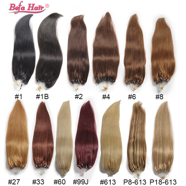 Free Shipping Micro Loop Human Hair Extensions Straight Cabelo