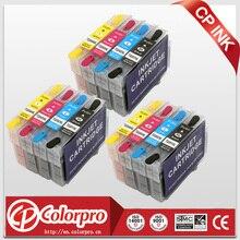 12PK T2201XL-T2204XL edible ink cartridge for epson Expression XP-320,XP-420,XP-424,WorkForce WF-2630, WF-2650, WF-2660 Printer 220xl t220xl xp 320 xp 424 xp 420 wf 2630 continuous ink supply system for ciss ink tank