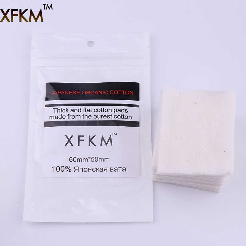 XFKM 10pcs/pack Organic Japanese Cotton For RDA RBA Coil Wick DIY Electronic Cigarette Heat Wire Coils Organic Pure Cotton