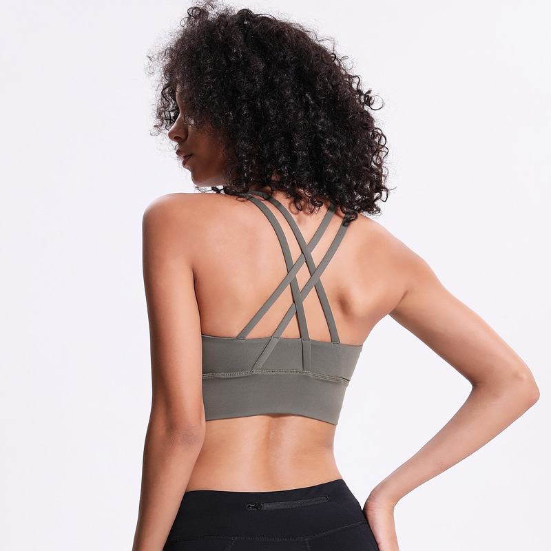 NWT 2020 Sports Bra Lady New Style Breathable Quick Dry Sports Bra Bodybuilding Bras 4 Way Stretch Fabric Running Bras