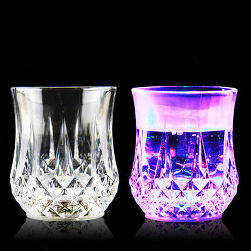 liquid active led water drinking glass led flash water cupled flash cups led party
