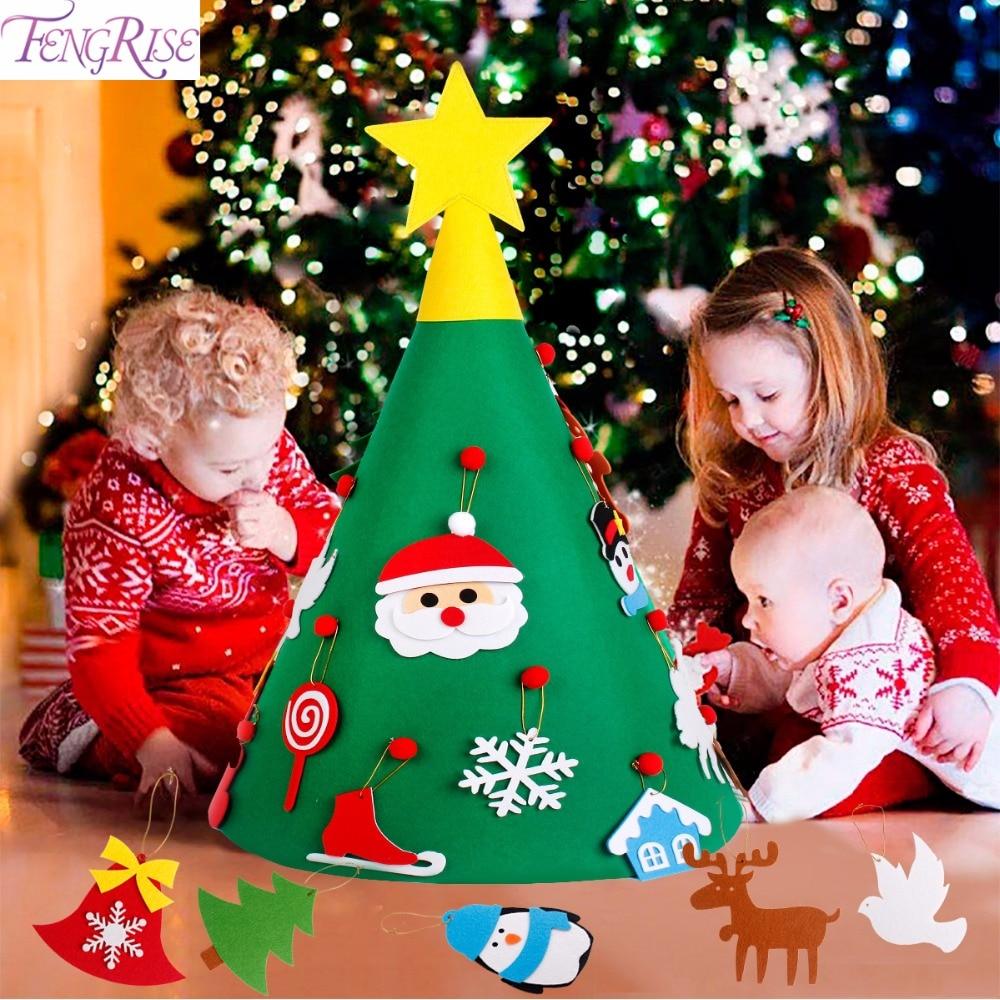 Fengrise 3d Diy Filz Weihnachten Baum Kunstliche Weihnachten Baum