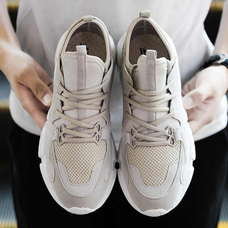 New Sock Sneakers Men Casual Shoes Breathable Mesh Lace Up Flat Tenis Shoes Soft Light Design Wear Resistant Antiskid Male Trend