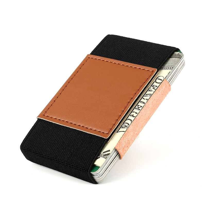 Genuine Leather Thin Small Magic Wallet For Men Women Elastic Front Pocket Credit Card Holder Wallets