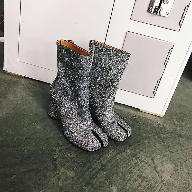 Printemps Mujer Chaussures Femme Fendu Automne Cheville Pour En 2019 Femmes As Cuir Zapatos Pic as Bling Bottes Orteil Pic De Nouveau vEwxqv
