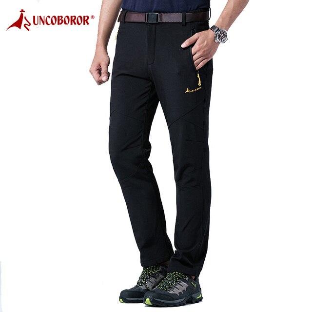 vasta selezione di 90828 260a2 US $19.86 15% di SCONTO|Pantaloni Invernali da uomo Spessore Caldo  Impermeabile Maschio Pantaloni Casual Uomini Termici Antivento Pantaloni  Moda ...