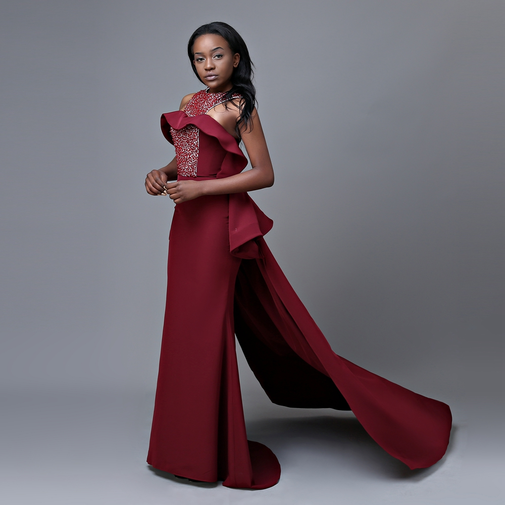 83b69f5e08 Newest Design Long Mermaid Prom Dresses 2019 Top Beaded Floor Length  African Girl Burgundy Prom Dress-in Prom Dresses from Weddings   Events on  ...
