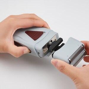 Image 4 - Golarka elektryczna dla mężczyzn Twin Blade profesjonalna akumulatorowa maszynka do golenia Razor USB maszynka do golenia na akumulator trymer fryzjerski