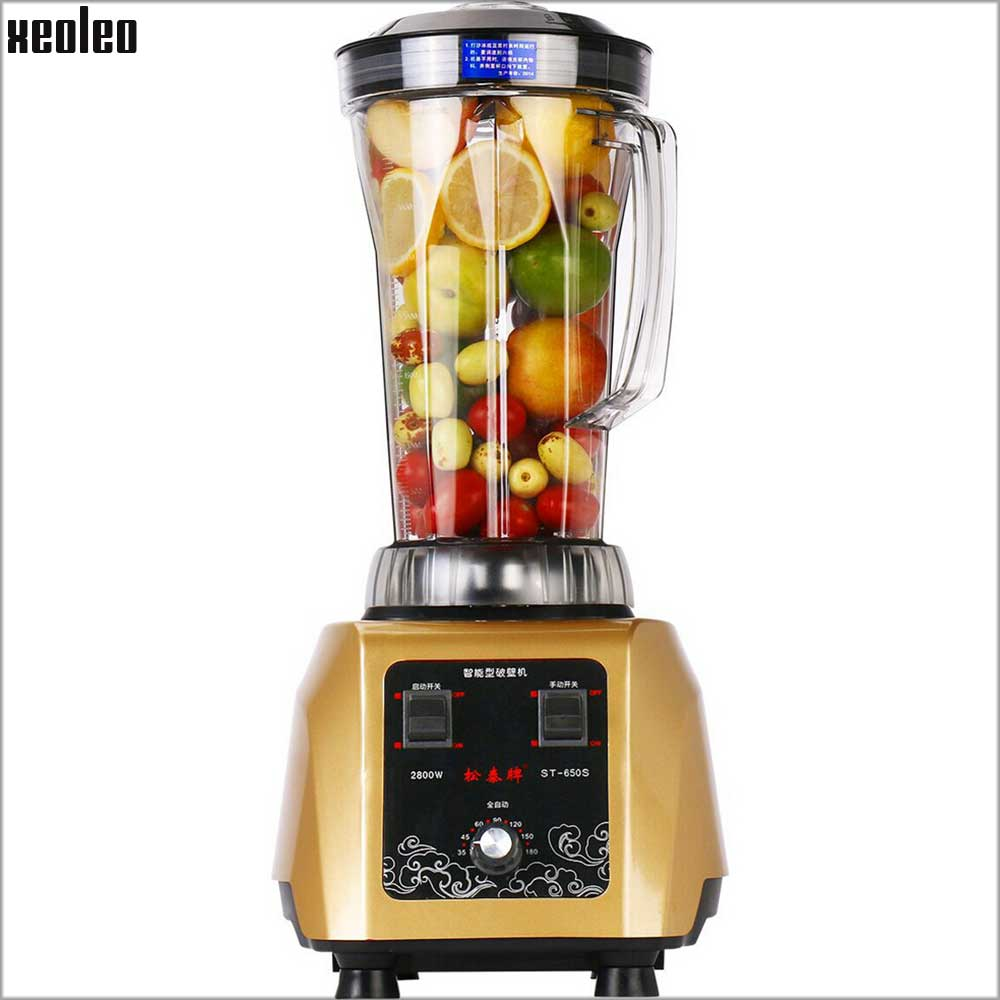 Xeoleo 3.8HP BPA Free Food mixer Commercial Blender mixer 4L Heavy Duty Blender 2800W Food Processor Ice Smoothie Bar Blender