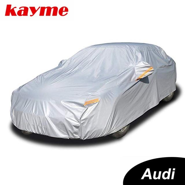 Kaymeアルミ防水車カバースーパー太陽保護ダスト雨車カバーフルユニバーサル自動suv保護アウディ