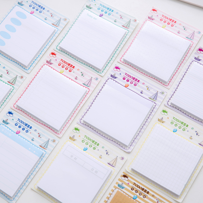 50Pcs/Pack Office Plan List Grid Sticky Post It N Times Memo Pad Notebook Student Sticky School Label Gift E0200