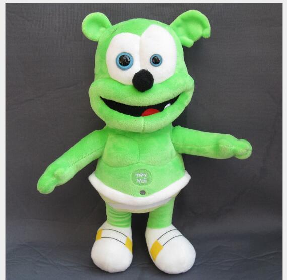 Alta qualidade de Pelúcia 2017 Gummy Bear 30 cm Gummy Bear Pet Voz engraçado Linda Boneca Brinquedos Sounding Plush Toy O Melhor Presente Para As Crianças