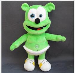 Hohe qualität Plüsch Gummibärchen 30cm Blau Augen Gummibärchen Stimme Pet Lustige Schöne Puppe Spielzeug Sounding Plüsch Spielzeug beste Geschenke Für Kinder