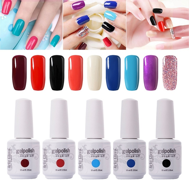 Traditional 90 Color Nail Gel Colors Arte Clavo Gelpolish 15ml Nail ...