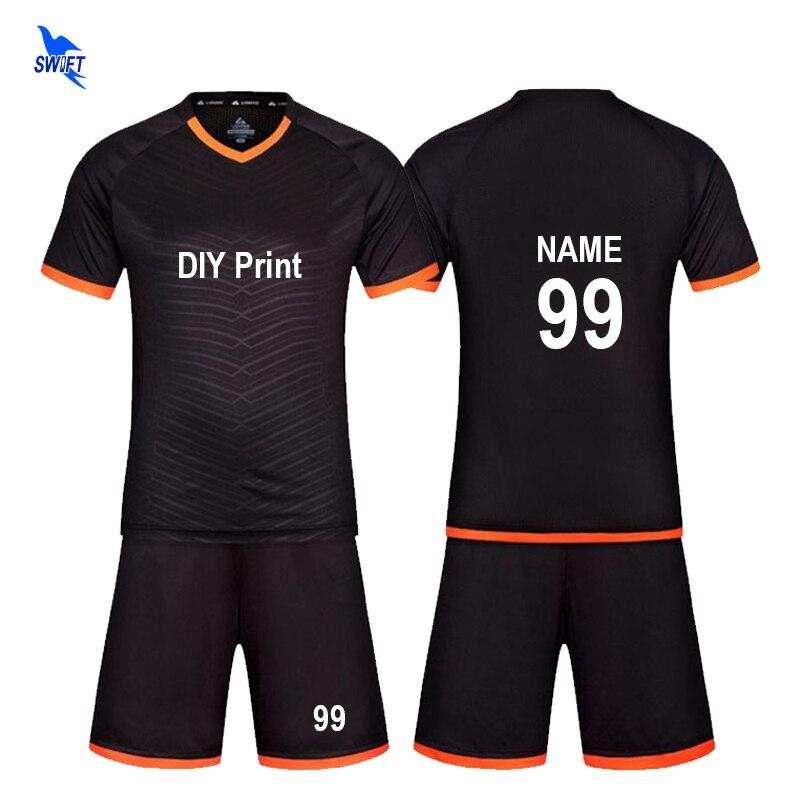 63c354c6c29 Custom Tracksuit Soccer Jerseys Set 2018 2019 Men Kids Training Football  Kits Boys Team Sports Wear Futsal Shirts Uniforms Suits