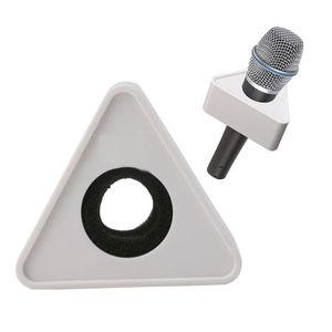 Image 2 - OOTDTY ABS plastique micro entretien triangulaire Logo drapeau Station noir/blanc résistant
