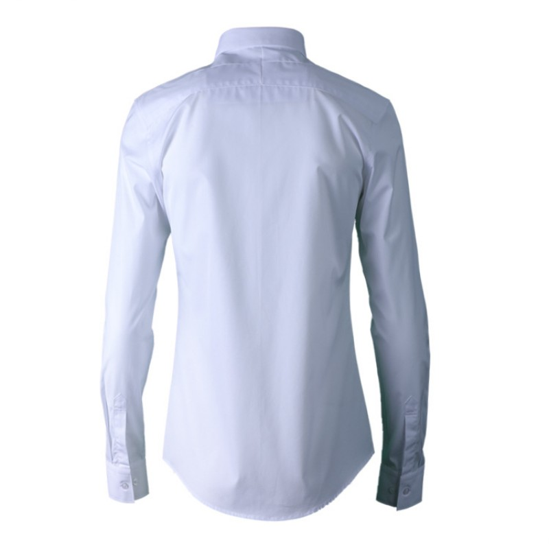 Nouveau hommes vêtements gothique brodé hommes chemise Simple mode fleur classique homme chemise blanc noir décontracté mâle haut 38 42 - 2
