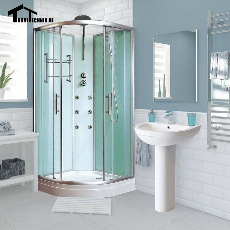 900mm Non Steam Shower Cubicle Enclosure Bath Room Cabin Corner ...