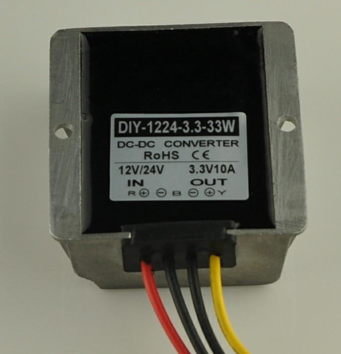 цена на Converter DC 12V 24V 36V (6V-40V)Step Down 3.3V 10A 33W DC Buck Module Car Power Supply Adapter Voltage Regulator Waterproof