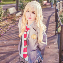 Your Lie In April Miyazono Kaori Arima Kousei Cosplay Costume Japanese Anime School Uniforms Halloween Suit Coat Skirt Tie все цены