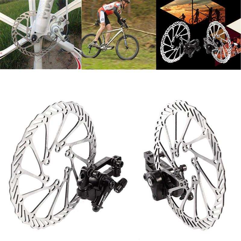 1 Pair of Mechanical Bike Disc Brake Front & Rear Disc Rotor Brake Kit for Mountain Bicycle