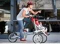 16 polegadas Bicicleta Portador De Bebê Mãe Bicicleta Carrinho De Criança carrinho de bebê carrinho de bebê do carro 3 in1 Bicicleta Dobrável