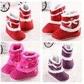 2016 Adorável Inverno Quente Sapatos de Algodão Acolchoado Criança Infantil Do Bebê Das Meninas Dos Meninos Do Bebê Botas Macias Newborn Bebe Primeiros Caminhantes