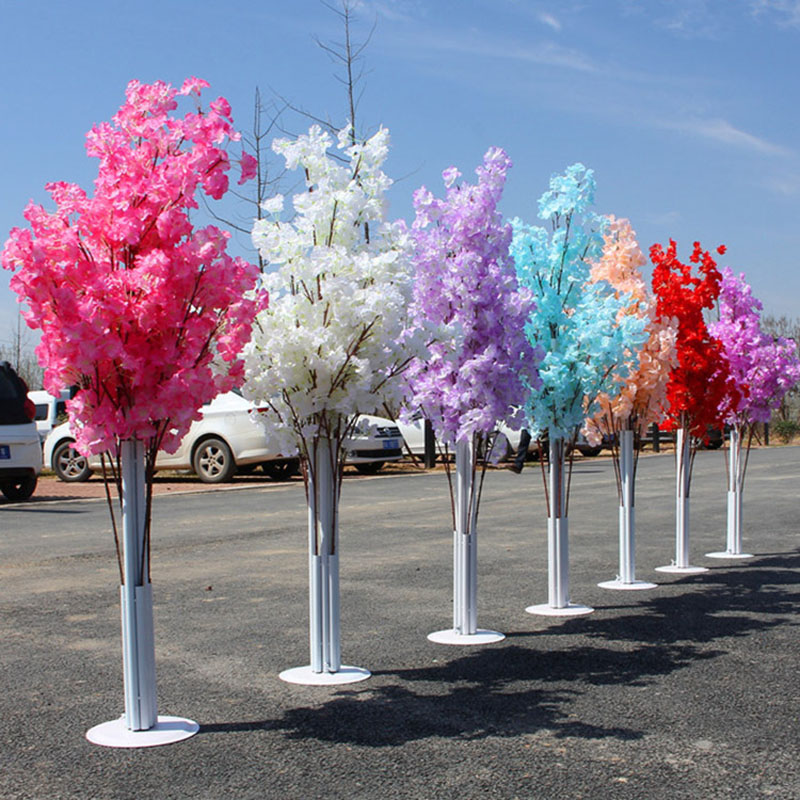 New Wedding Artificial Cherry Blossom Road Leads  Wrought Iron Arch Shelf Simulation Path Flower Decoration Party BackdropNew Wedding Artificial Cherry Blossom Road Leads  Wrought Iron Arch Shelf Simulation Path Flower Decoration Party Backdrop