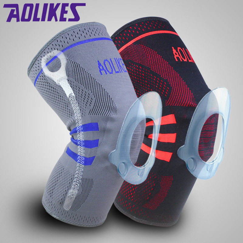 1pcs Basketball Knee Brace Compression knee Support Sleeve protection of <font><b>Injury</b></font> Recovery Volleyball Fitness <font><b>sport</b></font> safety image