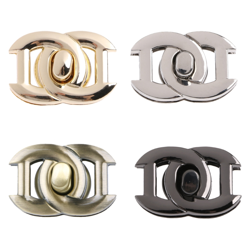 4Colors 1PC Fashion Bag Accessories Metal Clasp Turn Lock Twist Locks For DIY Handbag Craft Bag Purse Hardware Tool 2019 New