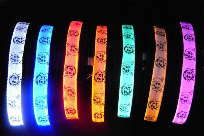 500pcs/lot LED PetDog Collar safety harness Training light Glow necklace flashing lighting up S/M/L/XL