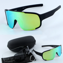 OBAOLAY MTB cycling Aspired Cycling glasses Sports goggles With logo riding glasses 3 lenses with Myopic frame gafas ciclismo