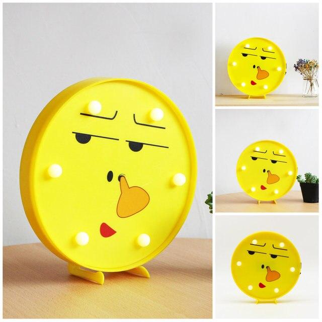 NEW Face Decor Lamp Emoji 3D Nightlight Decorative Wall Lamp Battery ...