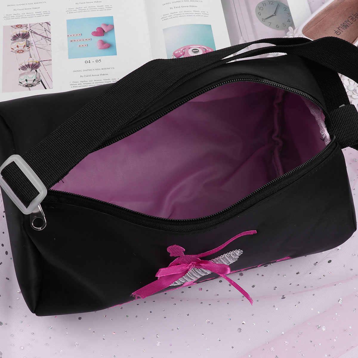4656492b45d0 Feeshow Kids Girls Ballet Bag Fashion Adorable Ballet Dance Bag Shoulder  Bag Embroidered Ballerina Dancing Duffle Bag Handbag