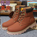 2014 nueva Mano de cuero Genuino de piel de Conejo de los hombres otoño/invierno zapatos de cuero de grano completo Súper hombres calientes botas