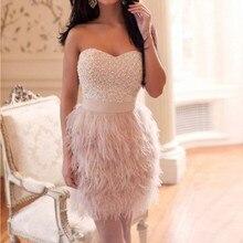 Халат коктейльное платье без рукавов с перьями и бисером коктейльное платье платья Коктейльные расшитые бисером милое платье
