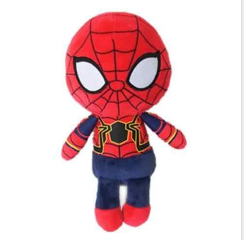 2018 marvel os vingadores brinquedos de pelúcia homem de ferro deadpool thanos spiderman recheado brinquedos de pelúcia super herói boneca de brinquedo macio para crianças presente