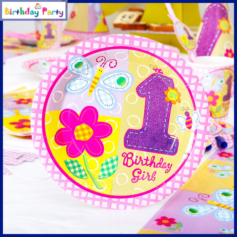 Supplies dvd picture more detailed picture about 84pcs for 1 year birthday decoration