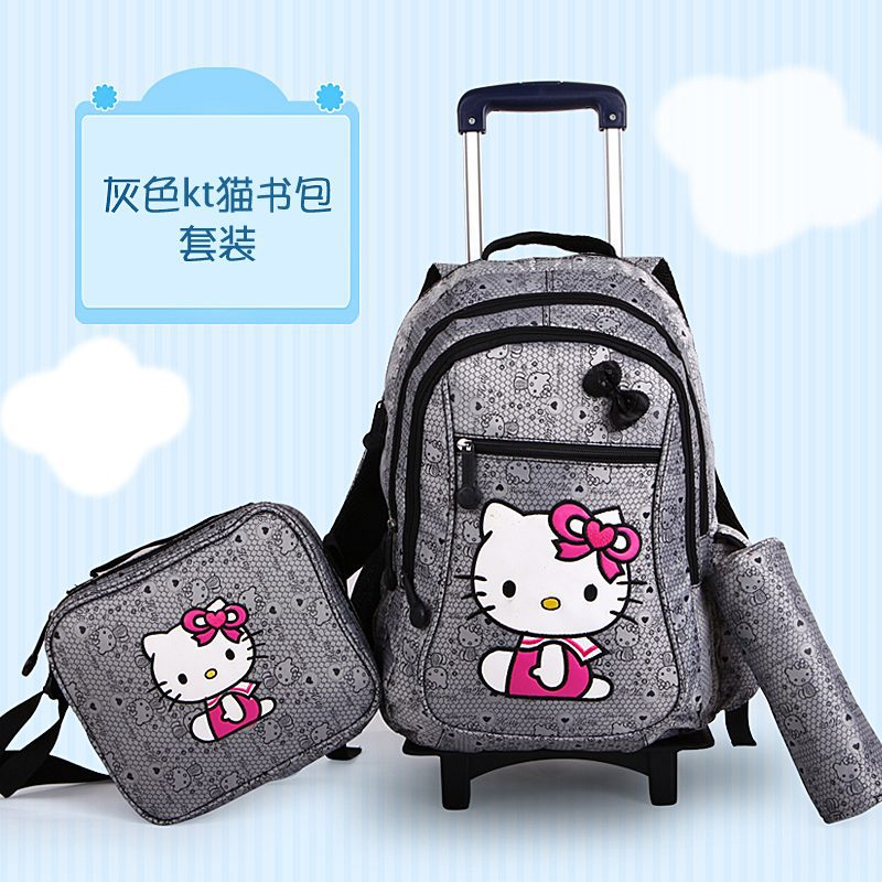 474325014 Hello Kitty Doraemon Trolley School Bag Set Lunch Box and Pencil Box  Children Backpacks on Wheels Rolling Bags Mochila Infantil-in School Bags  from Luggage ...