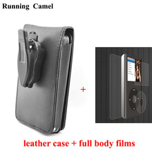 Running Camel Leather Case for Apple iPod Classic 80GB 120GB 160GB With Belt Clip + Full Body Protective Film For iPod Classic
