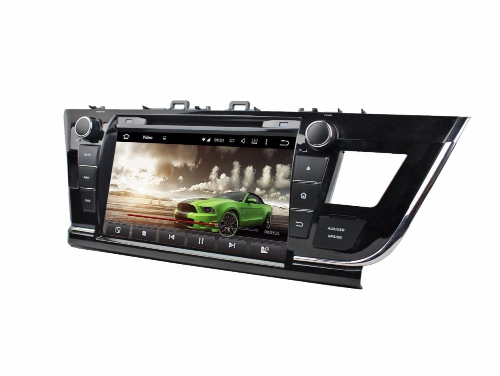 4GB RAM Octa Core 9 Android 6.0 Car Audio DVD Player for Toyota Corolla 2014 2015 With Radio GPS 4G WIFI Bluetooth USB DVR OBD