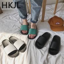 HKJL 2019 new flat slippers with flip-flops for women slipper summer slip-resistant sandals A57