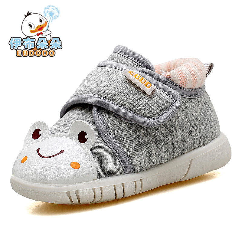 Ebdodo 2018 spring new style baby walking shoe of cartoon toe cap and sound sole