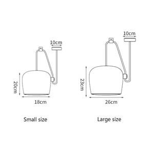 Image 5 - Nordic Personality DIY Spider Pendant Lamp White or Black Drum Shade Pendant Light Modern Adjustable Hanging Drum Light Fixture